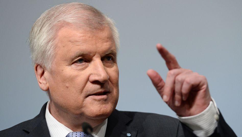 Bayerischer Ministerpräsident Seehofer: Der Freistaat meint es offenbar ernst