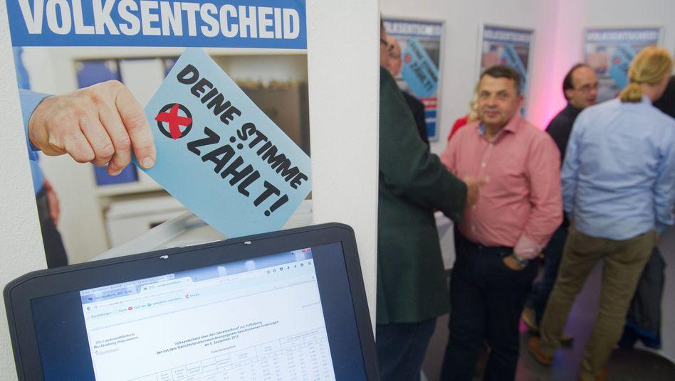 """Reformgegner in Stralsund: """"Die Sensation ist ausgeblieben. Die Hürden des Volksentscheids waren von vornherein zu hoch"""""""