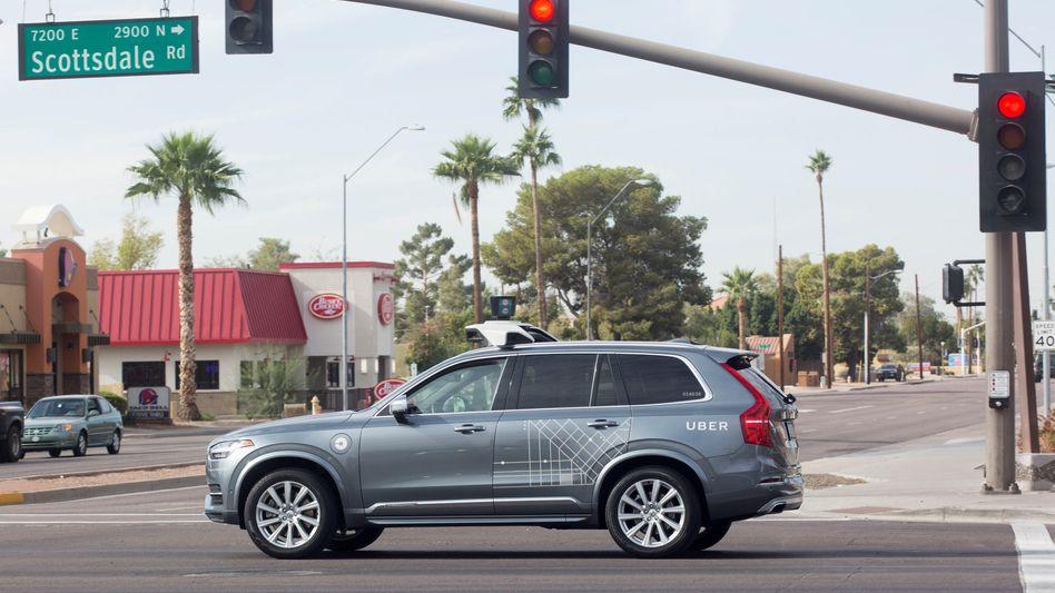 Selbstfahrendes Uber-Auto in den USA (Archivbild)