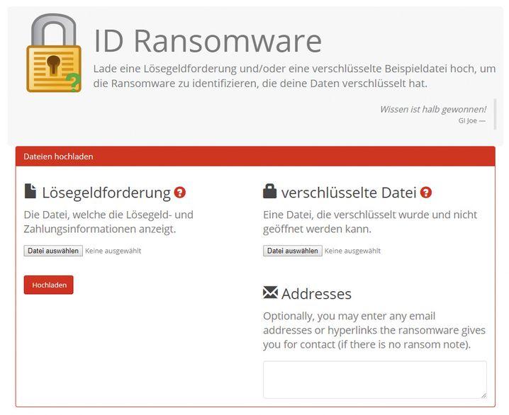 "Analysedienst ""ID-Ransomware"""