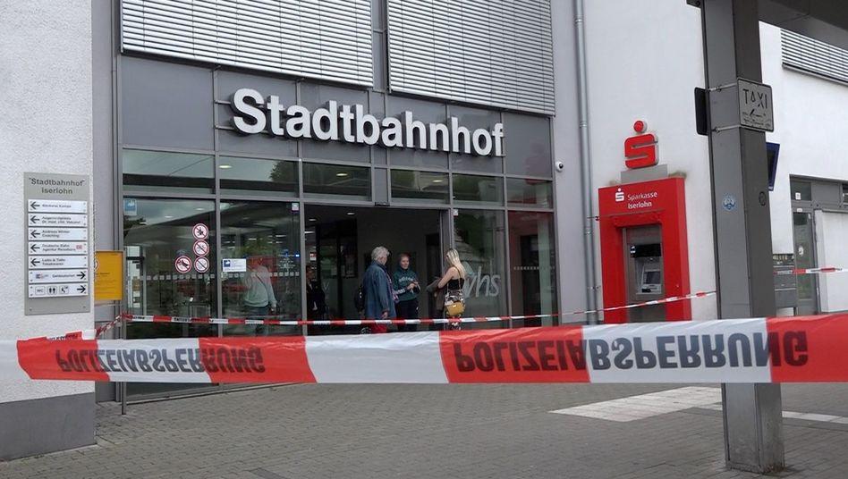 Zum Zeitpunkt der Tat war der Bahnhof in Iserlohn gut besucht