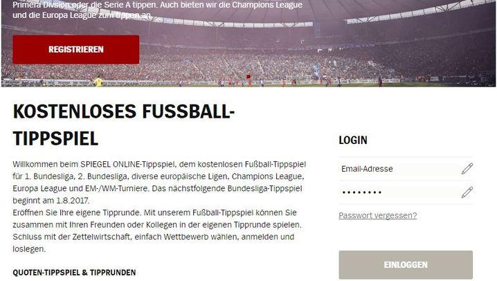 Fotostrecke: So melden Sie sich beim Bundesliga-Tippspiel an