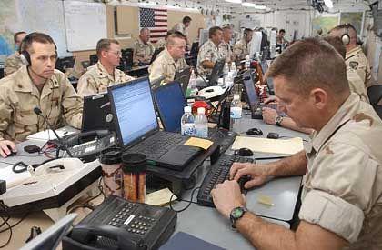 The US military's Camp Doha base in Kuwait.