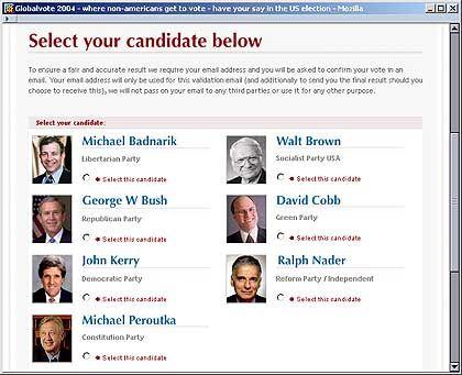 Online-Wahl: Eine Stimme pro Sekunde