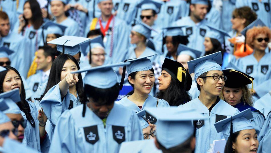 Chinesische Studierende an der Columbia-University in New York