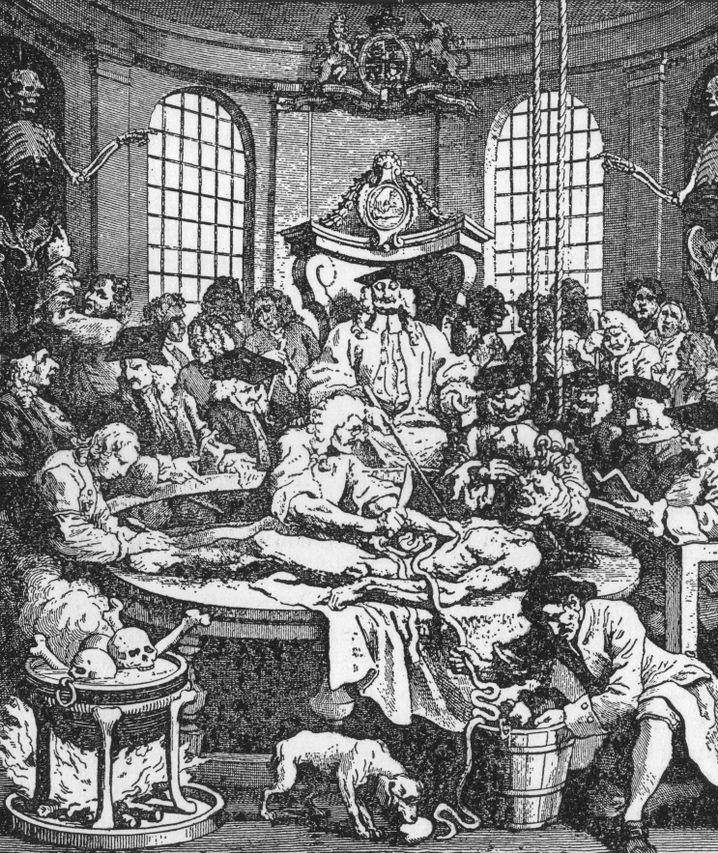 Leiche eines Verurteilten wird untersucht (1751): Historische Wurzeln moralischer Fragen