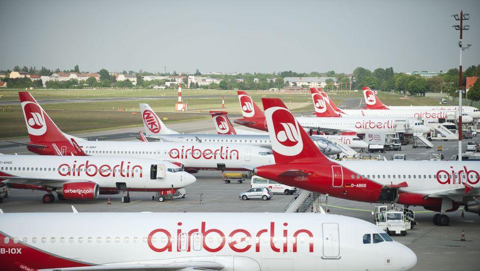 Maschinen von Air Berlin am Flughafen Tegel (Archivbild)