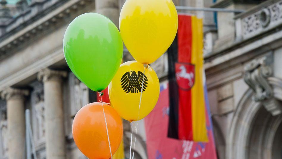 Luftballons beim Tag der Deutschen Einheit in Hannover (Archiv): Schädlich für Tiere?