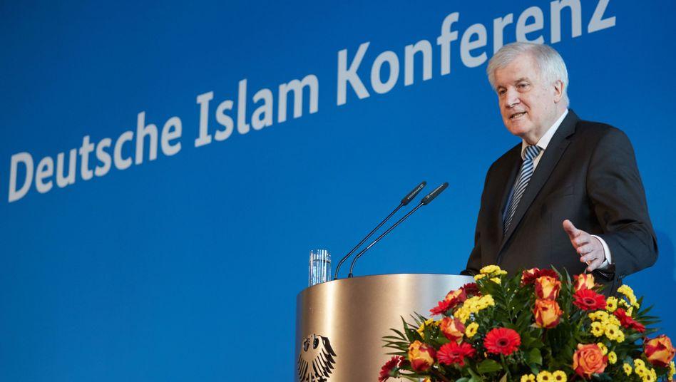 Horst Seehofer spricht auf der Islamkonferenz