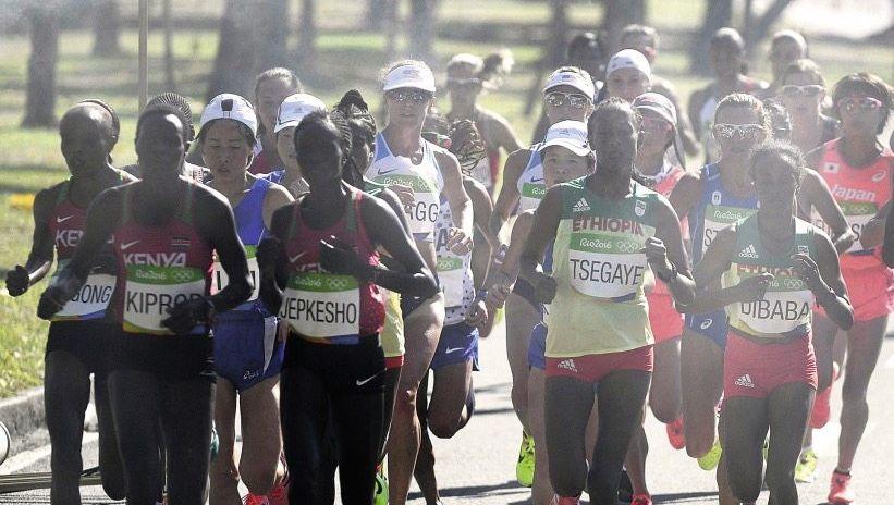 Marathonläuferinnen bei den Olympischen Spielen in Rio