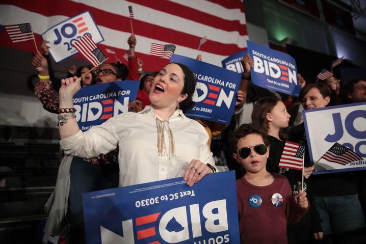 Lange erhoffter Sieg: Jubelnde Biden-Anhänger in South Carolina