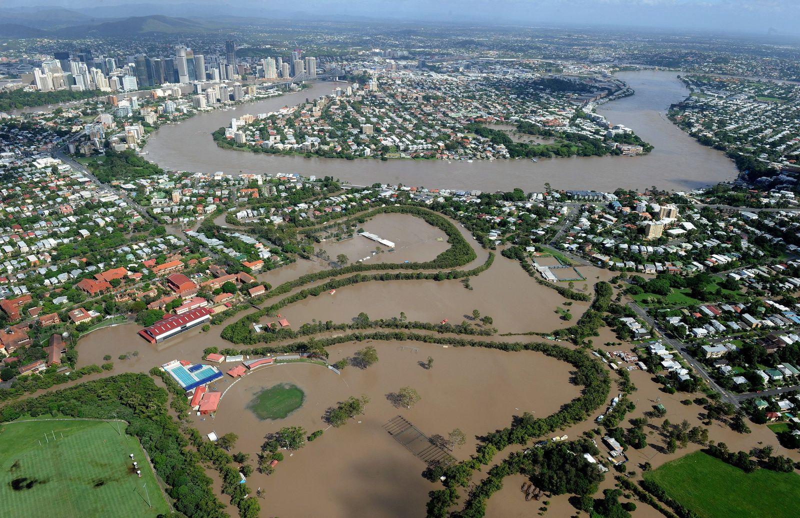 Australien/ Brisbane/ Überschwemmungen