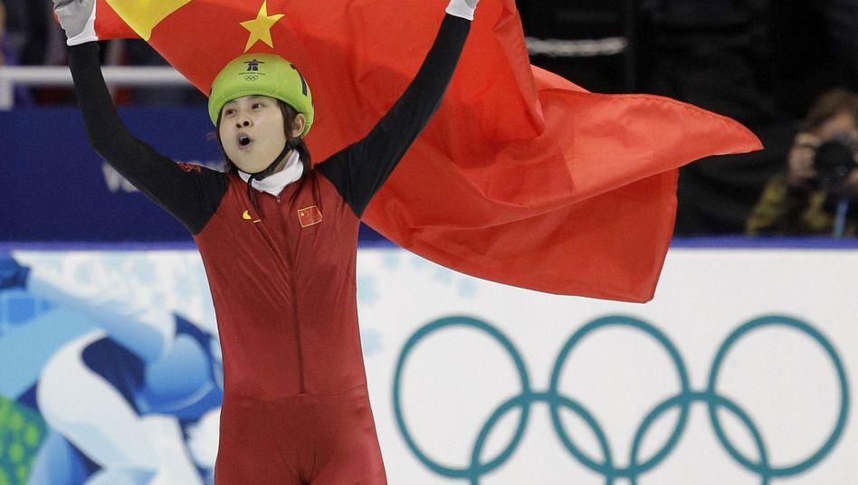 Olympiasiegerin Wang Meng: Knöchelbruch im Training