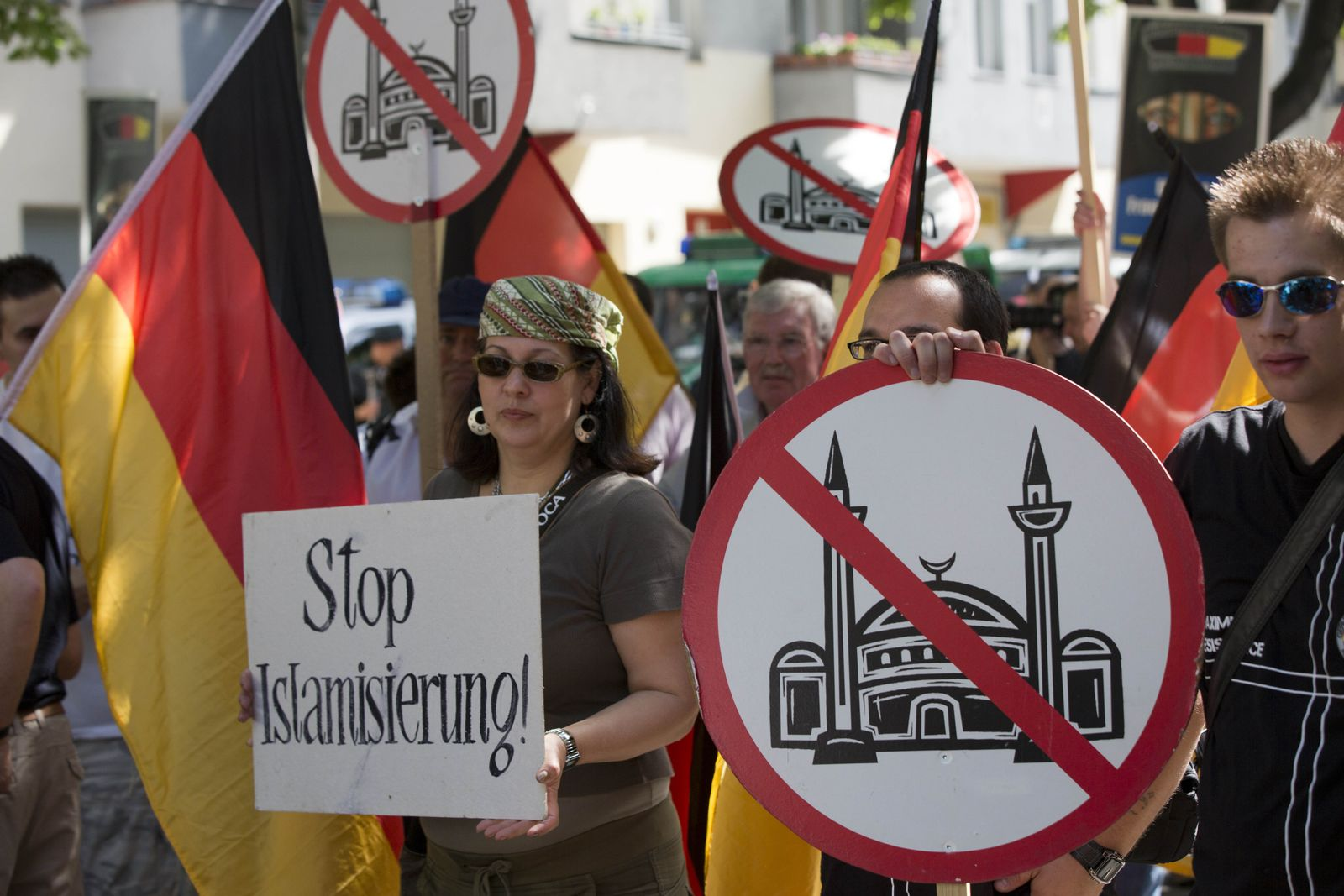Germany Mosque Protest