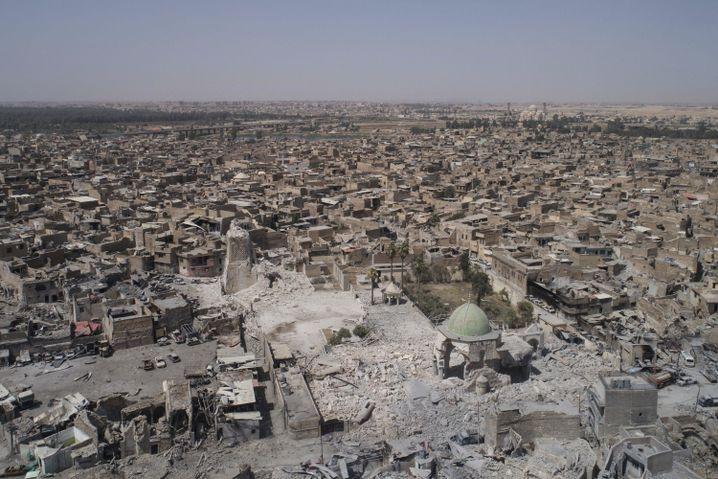 Zerstörte al-Nuri-Moschee