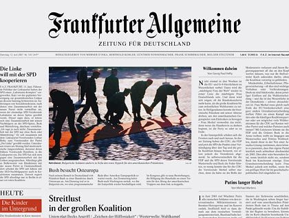 This is what the conservative daily Frankfurter Allgemeine Zeitung could look like soon -- a far cry from its previous style.