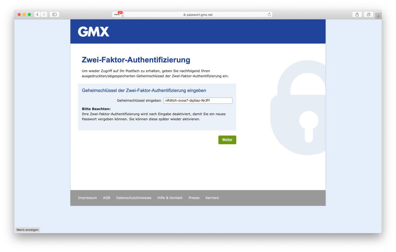 Probleme gmx passwort login Login nicht