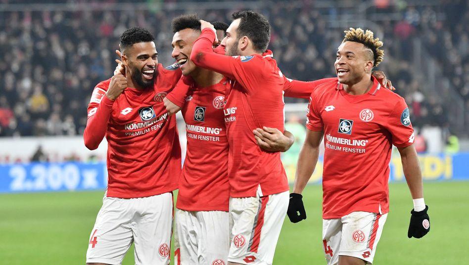 Mainz freute sich über den Sieg gegen Frankfurt