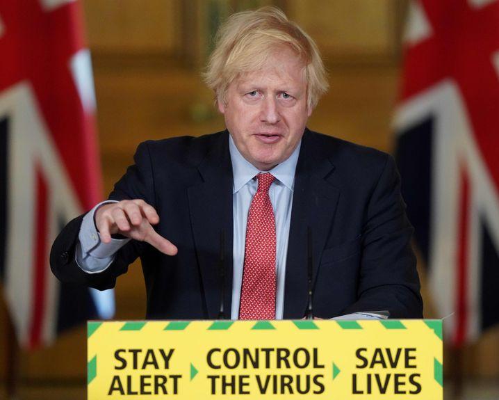 Boris Johnson im Londoner Regierungssitz