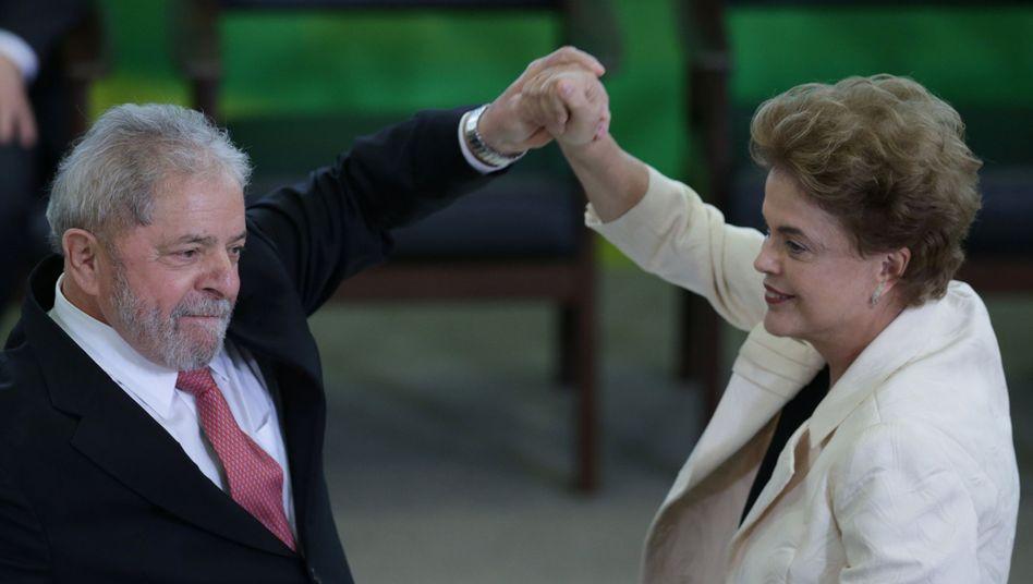 Ex-Staatschef Lula mit Präsidentin Rousseff