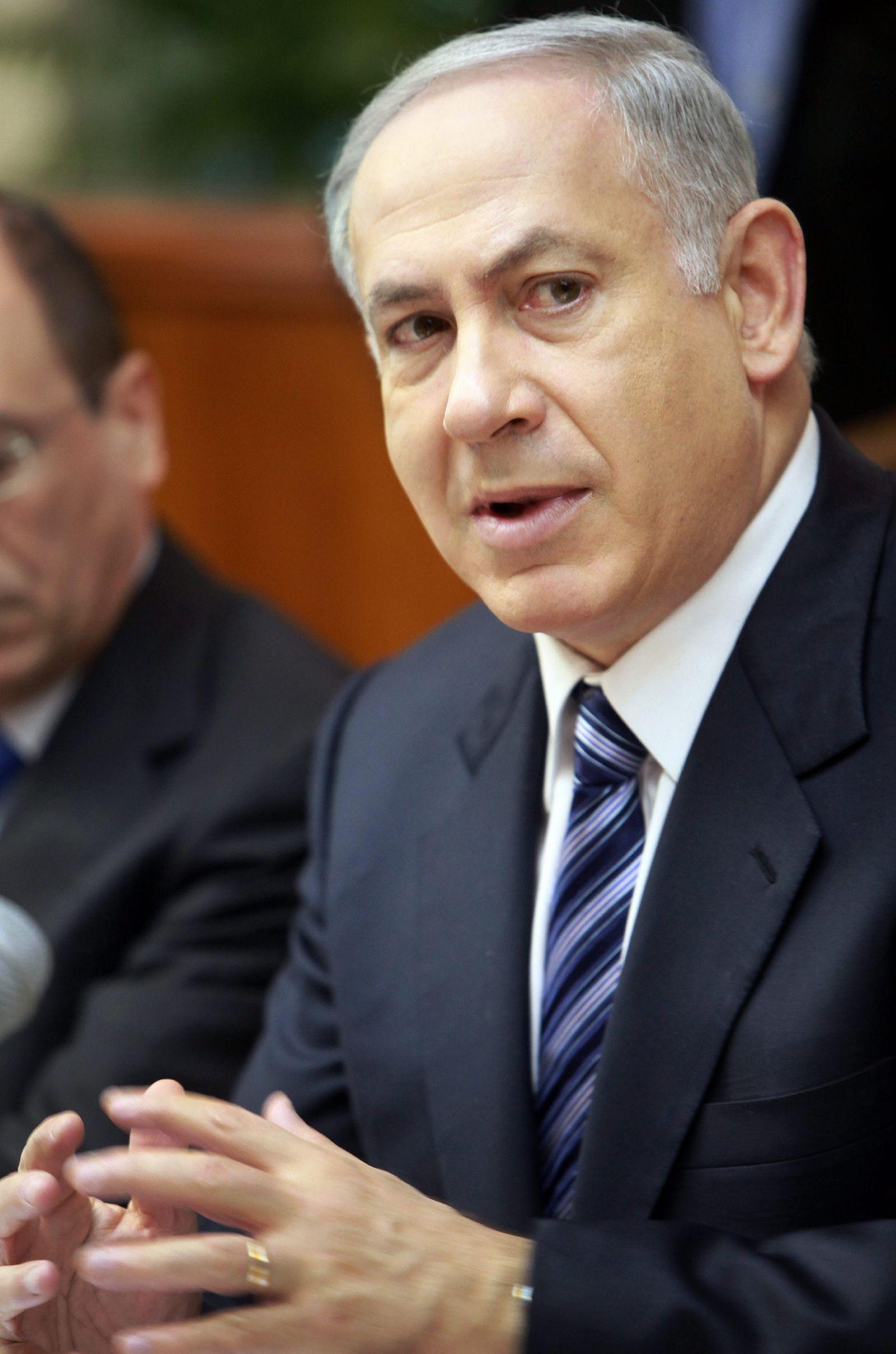 Israels Premier Benjamin Netanjahu bei Kabinettssitzung