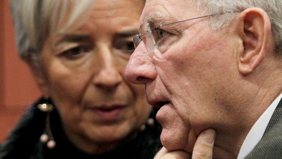 Finanzminister Lagarde (Frankreich), Schäuble (Deutschland): Am liebsten zusammen?