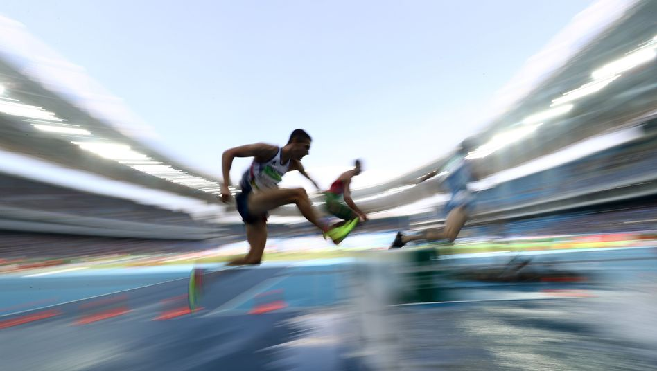 Athletes compete at the 2016 Olympic Games