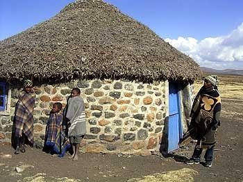 Am Ende eine Rundreise: Szene aus Lesotho