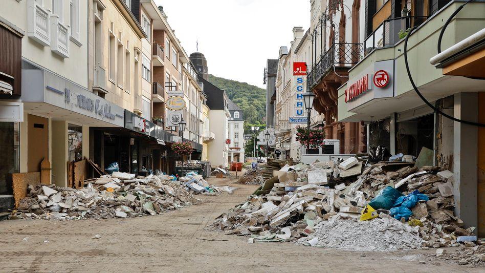 Einkaufsstraße in Bad Neuenahr am 21. August 2021