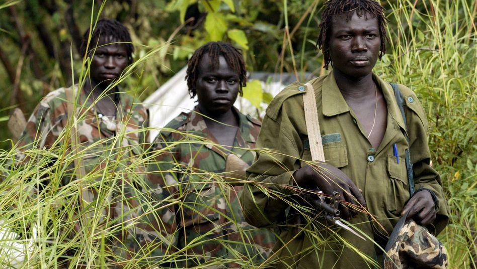 Kämpfer der Lord's Resistance Army 2006: Für Grausamkeit berüchtigte Rebellentruppe