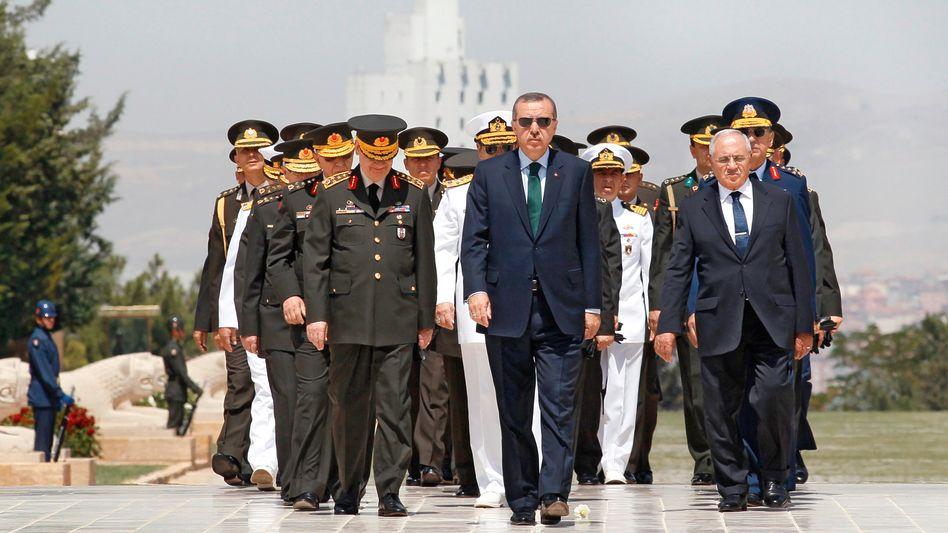 Turkish Prime Minister Recep Tayyip Erdogan is viewed with suspicion by the Turkish opposition.