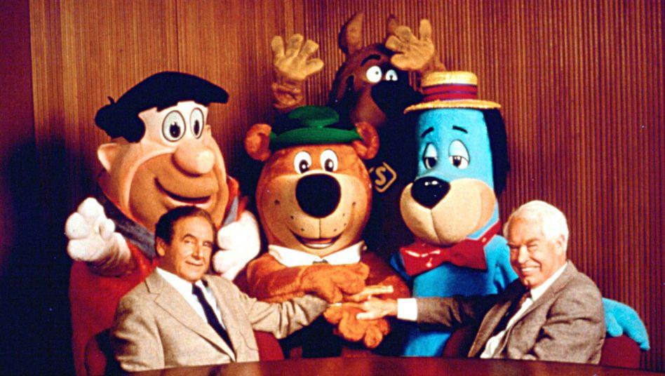 """Joe Barbera (l.) und William Hanna (r.) produzierten zahlreiche erfolgreiche Zeichentrickfilme fürs Fernsehen, darunter """"The Flintstones"""""""