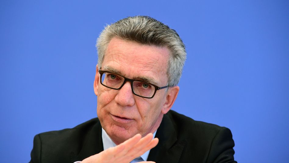 Innenminister Thomas de Maizière
