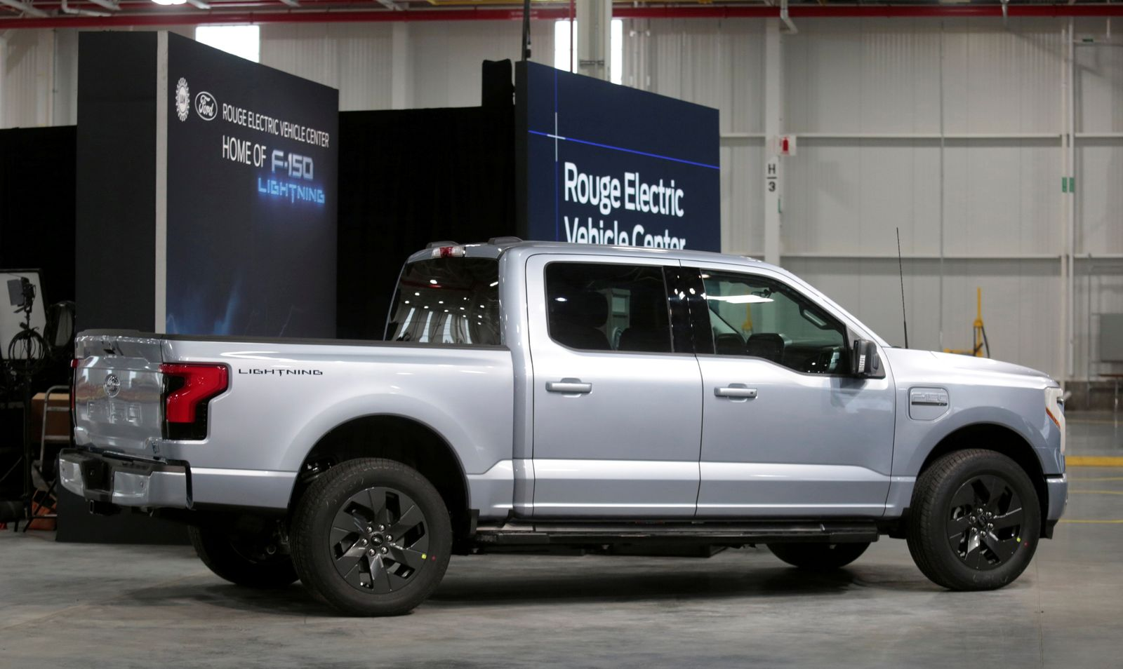 FILE PHOTO: Ford Motors pre-production all-electric F-150 Lightning truck prototype