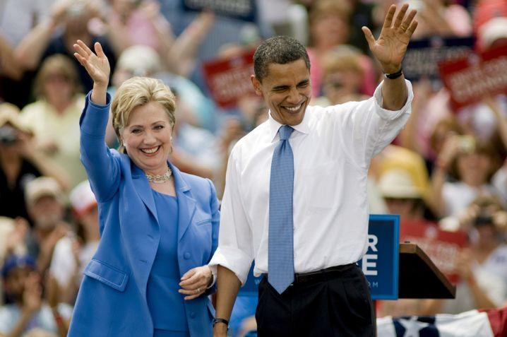Verpasster Anlauf: Clinton und Obama zum Ende des Vorwahlkampfes 2008