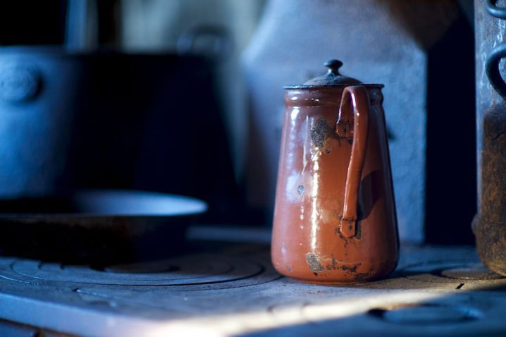 Teepott in der Shackleton-Hütte: Überlebenswichtig für Briten