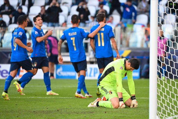 Courtois im Spiel gegen Italien: »Wir sind keine Roboter«
