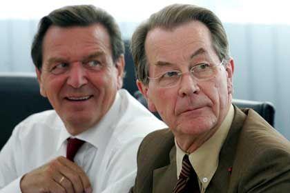 """Müntefering und Schröder bei Präsidiumssitzung: """"Wir dringen nicht durch"""""""