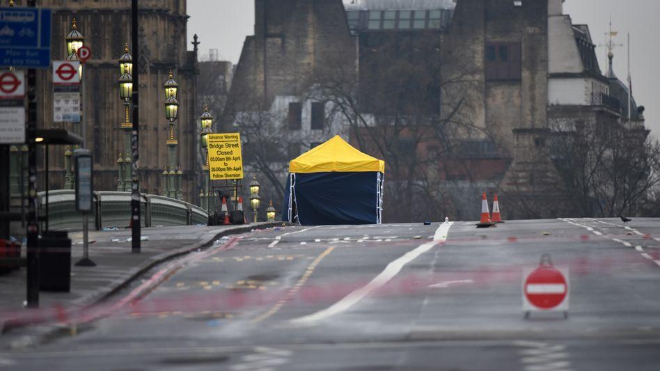 Westminster-Brücke nach dem Anschlag