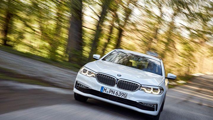Autogramm BMW 5er Touring: Leiser Reiser