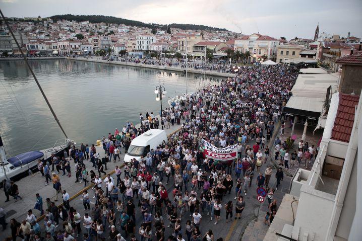 Protest gegen Tsipras-Besuch