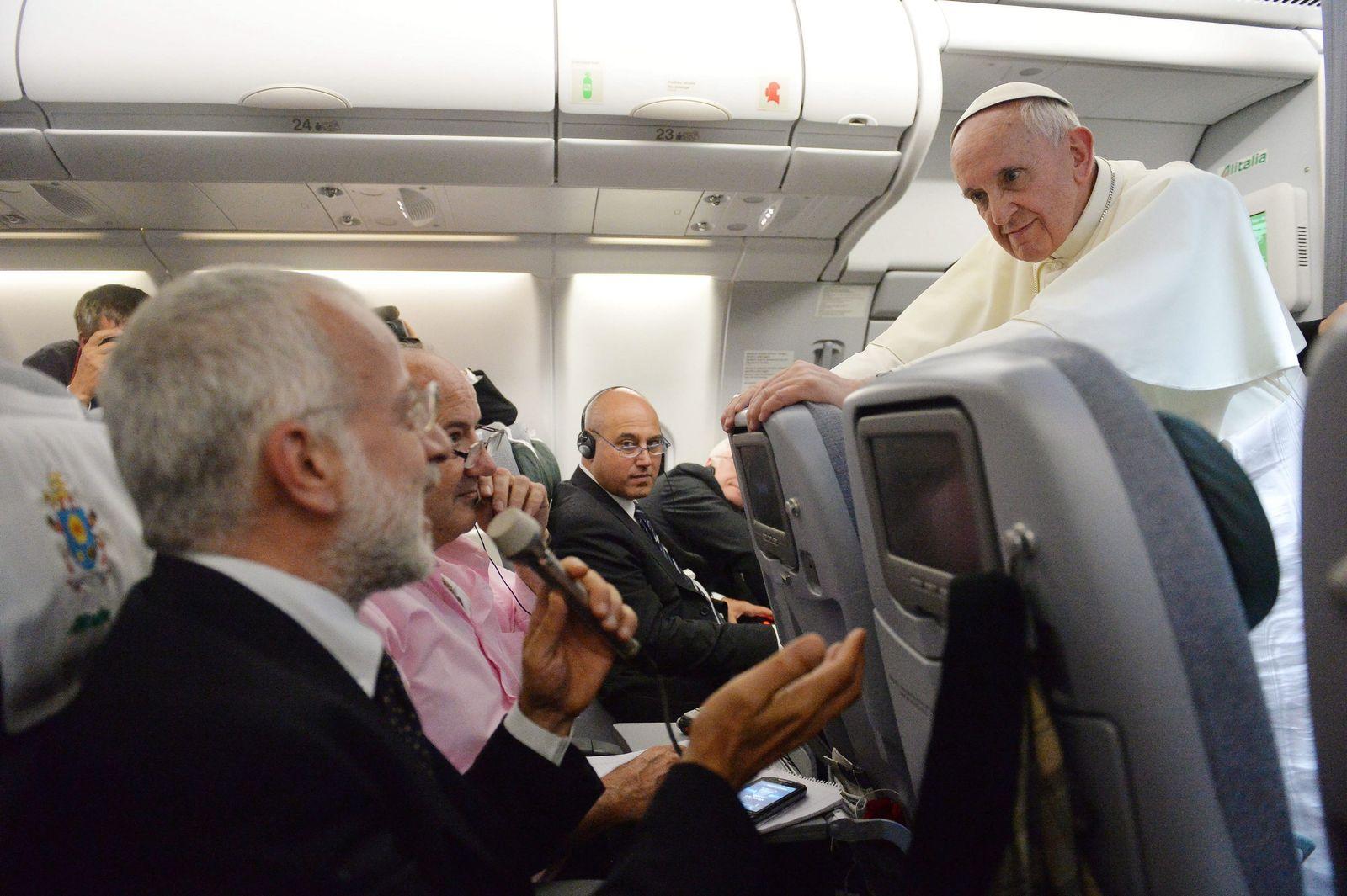 Papst Franziskus/ Brasilien-Rückflug