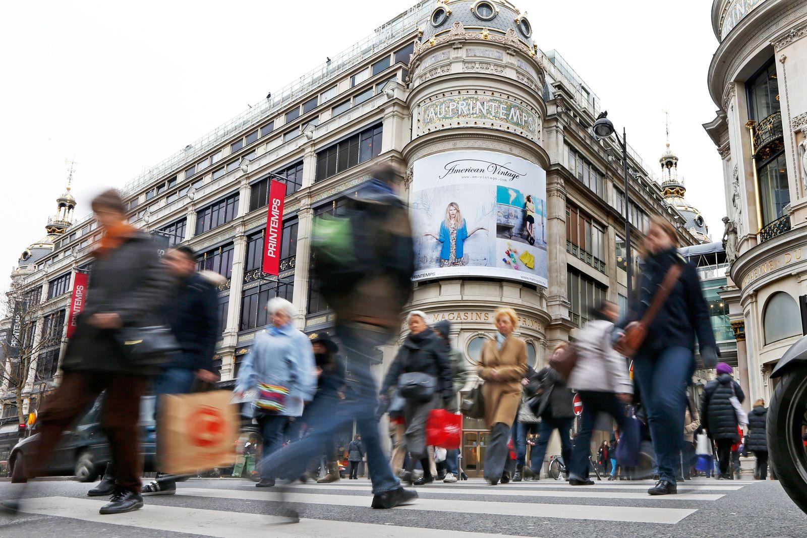 Frankreich / Konjunktur / Shoppen / Passanten / Konsum / Inflation