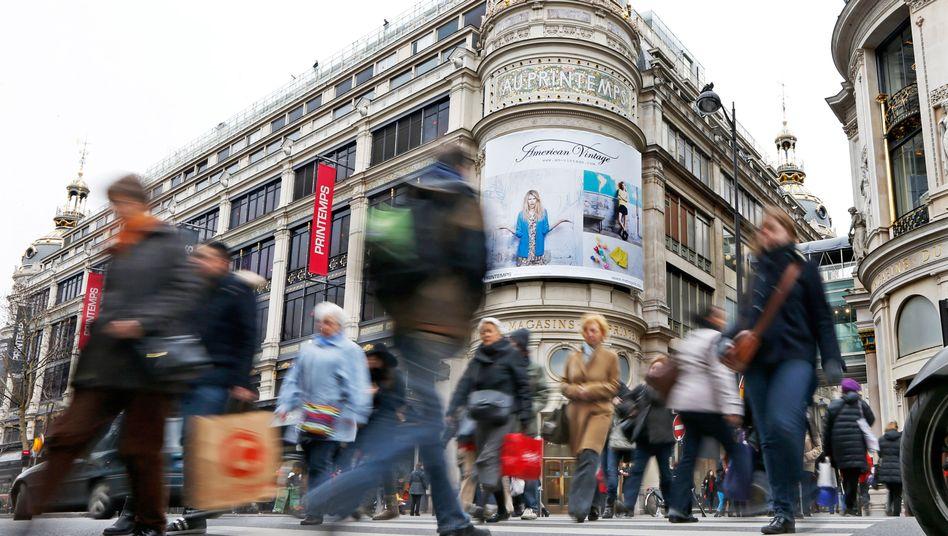 Printemps-Kaufhaus in Paris: Kerninflation auf Rekordtief
