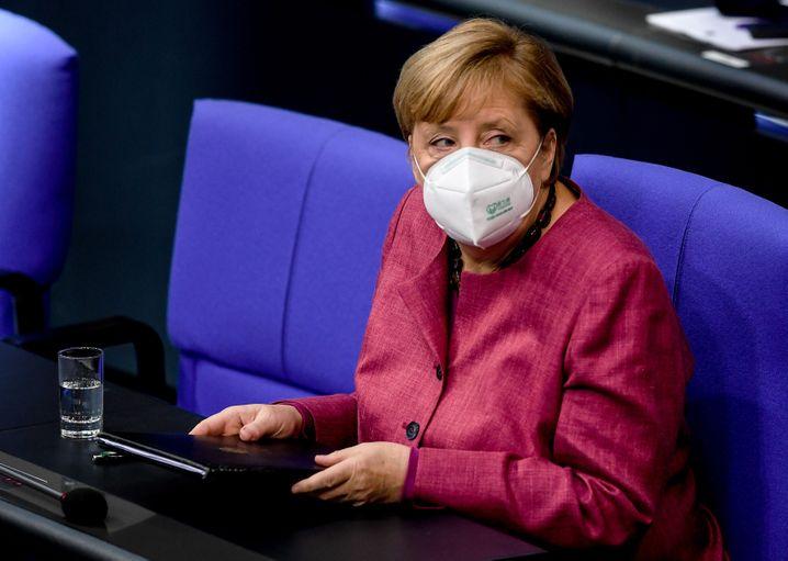 Bundeskanzlerin Angela Merkel am Donnerstag im Bundestag