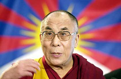 Ebenfalls an Bord: Dalai Lama