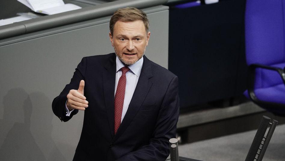 FDP-Fraktionsvorsitzender Christian Lindner im Bundestag: »Parlamentarische Beratung der Corona-Maßnahmen ein Anliegen aller Fraktionen«