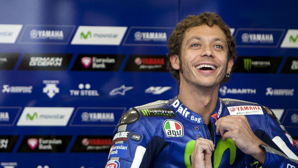 Motorradfahrer Rossi: Vorsprung ausgebaut