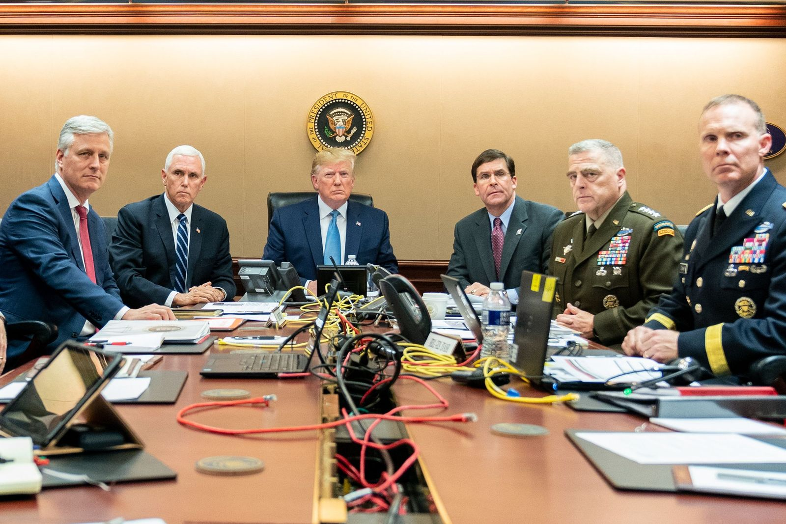 President Donald J. Trump Watches Raid On Abu Bakr al-Baghdadi?s Compound