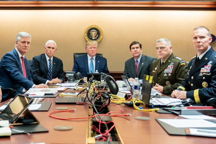 Commander in Chief Trump and other senior officials in the Situation Room of the White House: The decision to assassinate Soleimani was the most important foreign policy move of his tenure thus far, and one with deep and unpredictable implications for the Middle East and beyond.